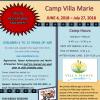 2018 Camp Villa Marie – Registration OPEN!