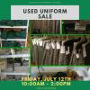 Used Uniform Sale-FRIDAY