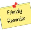 Student Reminder!
