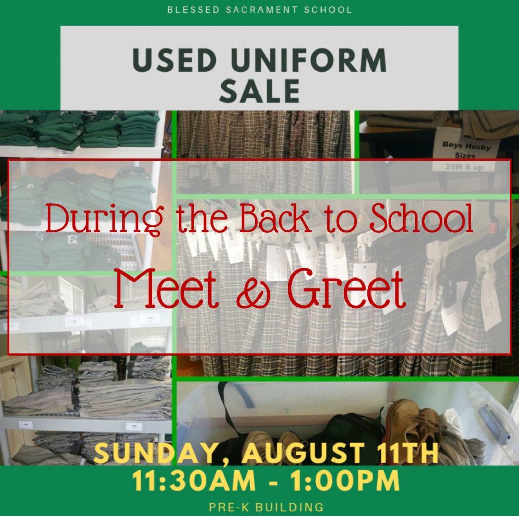 Still Need Uniforms? - Blessed Sacrament Catholic School