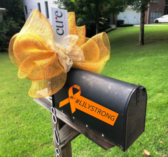 #lilystrong  CURE Childhood Cancer Gold Bows on sale now through the end of August.