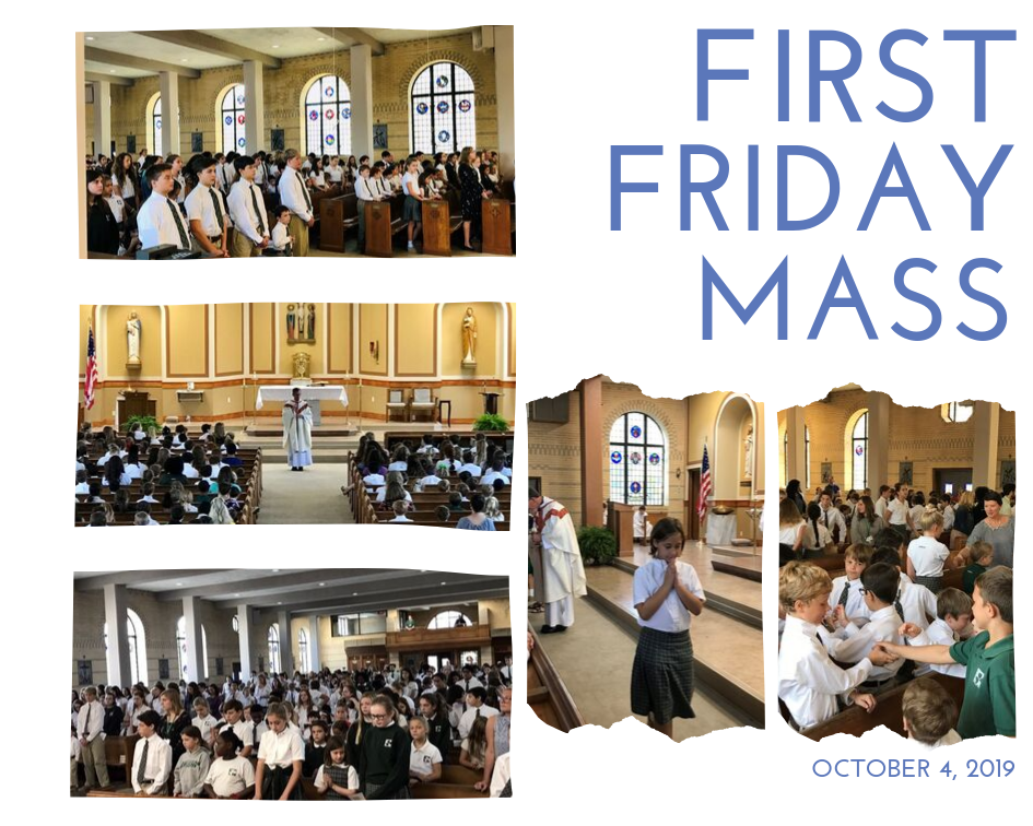 First Friday Mass in full uniform.
