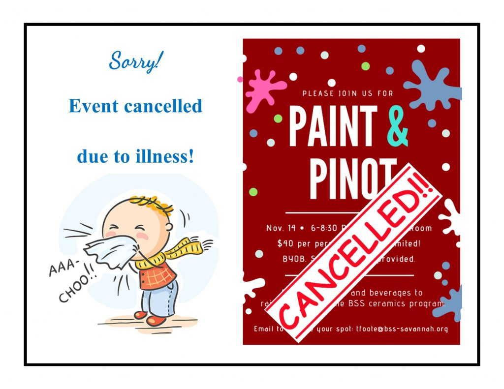 Paint & Pinot cancelled due to illness.