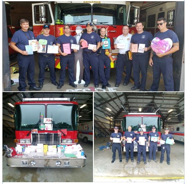 Recently, BSS hosted the first ever Heroes Parade to thank those who have been on the front lines battling the COVID crisis. This week, first responders of the Bryan County Emergency Services wanted to be sure to let us know how very much they appreciate the thank you notes sent by the children of Blessed Sacrament School. Way to Go Irish!