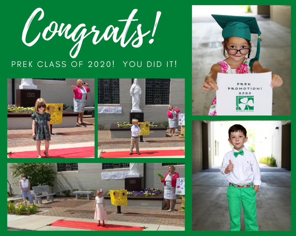 Congratulations to the PREK Class of 2020!  Don't worry if you missed our star studded event last week when the PreK walked the Red Carpet in celebration of graduation...photos will be available in our School Photo Gallery soon thanks to Emmaline Routon Photography.  Here's a peek!