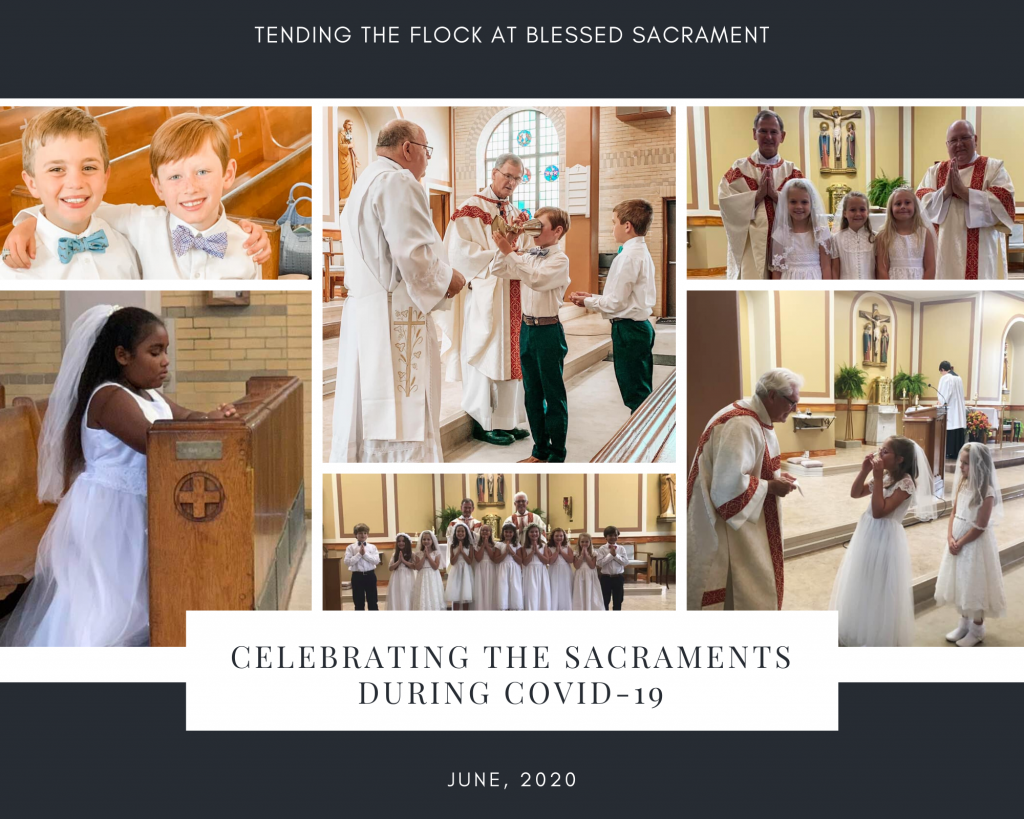 Many 2nd grade students have been able to attend various daily or weekend masses individually or in small groups to celebrate the sacraments.