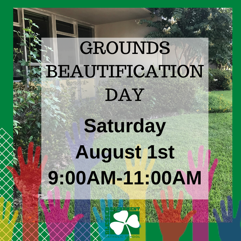 Does your middle school student need service hours? Here's the PERFECT opportunity! Have your student contact Ms. Phillips (cphillips@bss-savannah.org) after grounds clean up day to log service hours. GO IRISH!