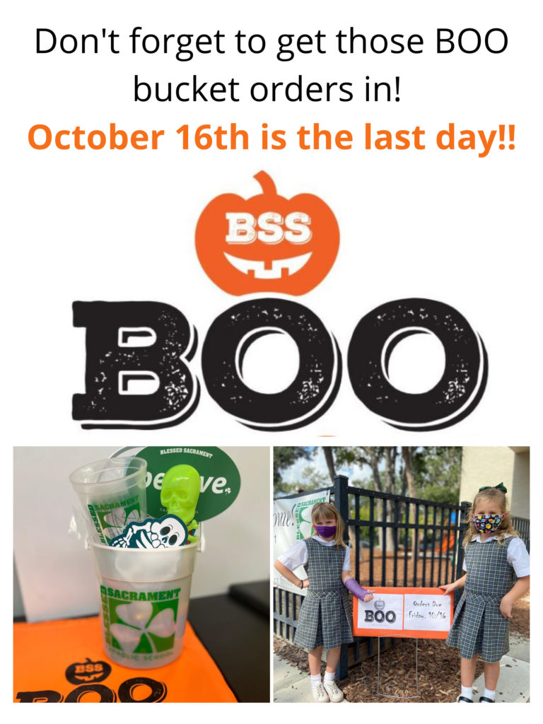 Boo Buckets order deadline is THIS FRIDAY!