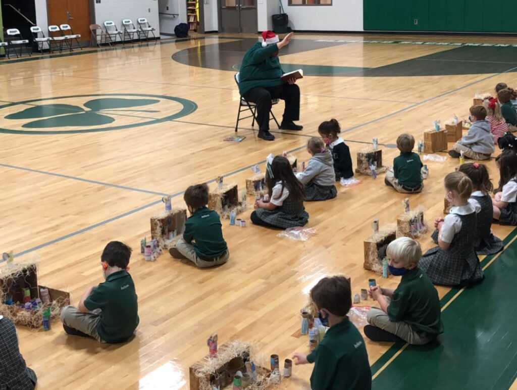 Our kindergarteners have been busy learning about the first Christmas story and making their shoebox nativity scenes in religion class.